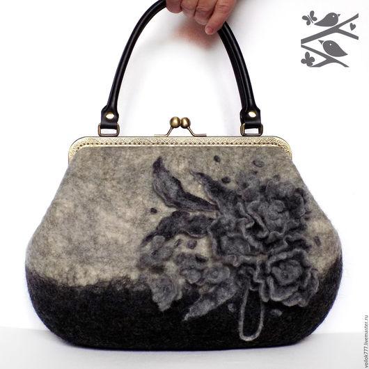 """Женские сумки ручной работы. Ярмарка Мастеров - ручная работа. Купить Сумочка """"Дуэт"""". Handmade. Серый, сумка на каждый день"""