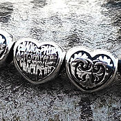 Украшения handmade. Livemaster - original item Heart bead. 925 sterling silver. Prayer in the heart art. One million eighty four thousand three hun. Handmade.