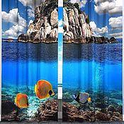 """Дизайн и реклама ручной работы. Ярмарка Мастеров - ручная работа Комплект штор """"Под водой"""" с фотопечатью. Handmade."""
