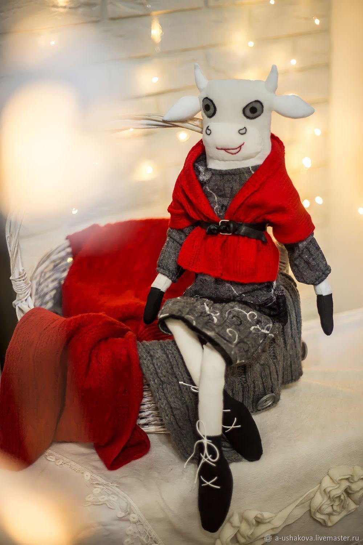 Корова интерьерная Вьюга, Мягкие игрушки, Домодедово,  Фото №1
