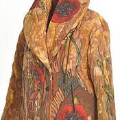 """Одежда ручной работы. Ярмарка Мастеров - ручная работа Куртка батик шёлк """"Маки"""". Handmade."""
