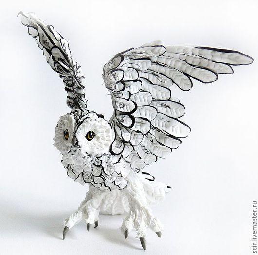 """Игрушки животные, ручной работы. Ярмарка Мастеров - ручная работа. Купить фигурка """"Полярная сова"""" (черно-белое). Handmade."""