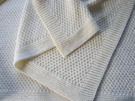 Текстиль, ковры ручной работы. Ярмарка Мастеров - ручная работа. Купить Плед. Handmade. Кремовый, тепло