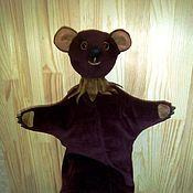 Кукольный театр ручной работы. Ярмарка Мастеров - ручная работа Медведь перчаточная кукла для домашнего кукольного театра.. Handmade.