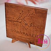 Свадебный салон ручной работы. Ярмарка Мастеров - ручная работа Обложка из дерева для фотоальбома. Handmade.