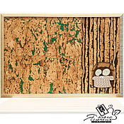 Картины и панно handmade. Livemaster - original item Cork notes board «OWL». Handmade.