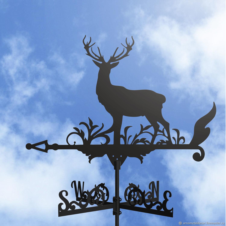 Weather vane on the roof ' Deer', Vane, Ivanovo,  Фото №1