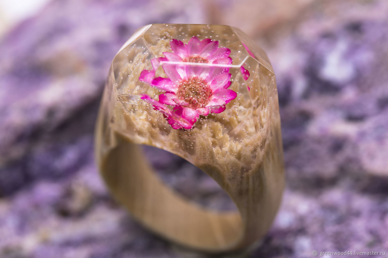 Wooden Ring ' Peony', Rings, Kostroma,  Фото №1