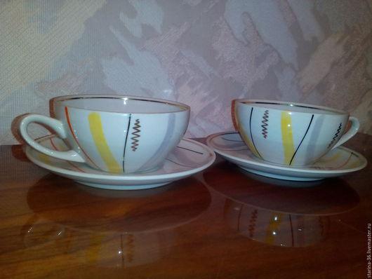 Винтажная посуда. Ярмарка Мастеров - ручная работа. Купить две чайных пары. РИГА.. Handmade. Комбинированный, Блюдце