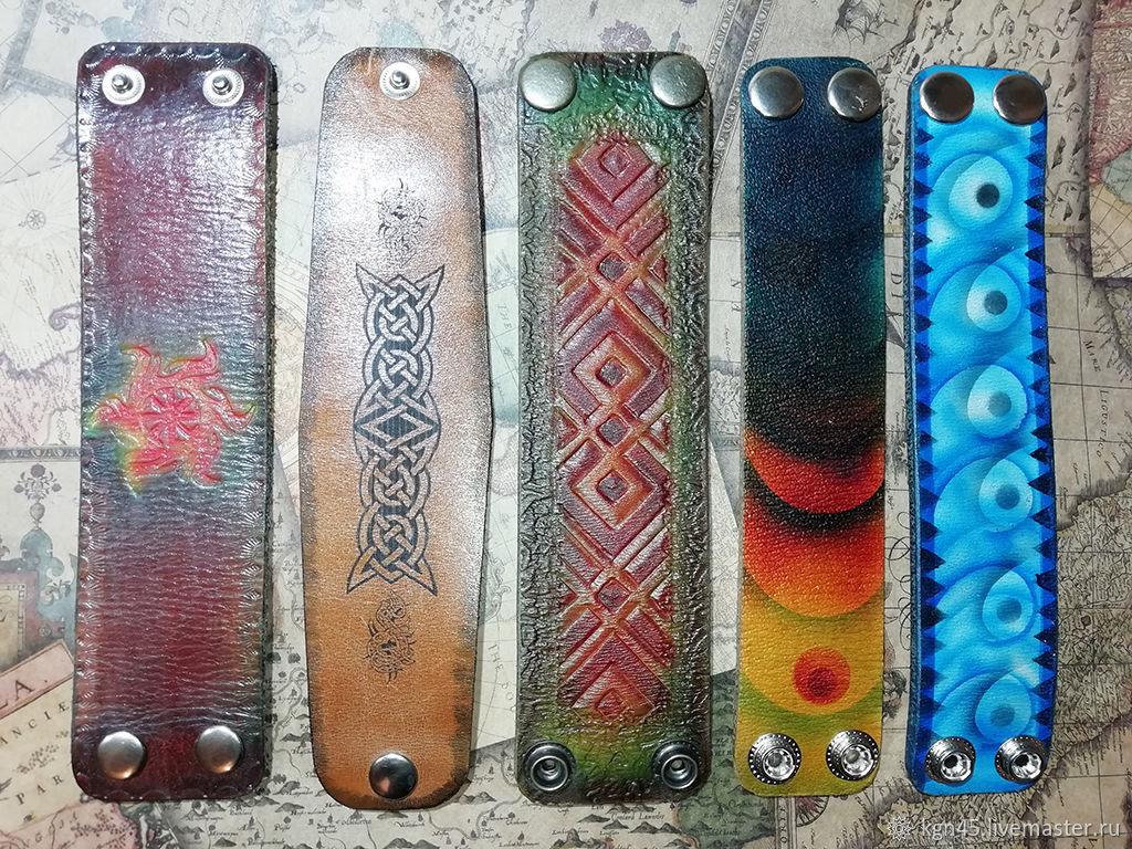 Leather bracelets in stock, Bracelet set, Kurgan,  Фото №1