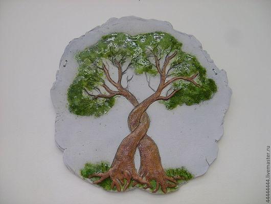 Персональные подарки ручной работы. Ярмарка Мастеров - ручная работа. Купить панно Дерево влюблённых керамика. Handmade. Подарок, панно