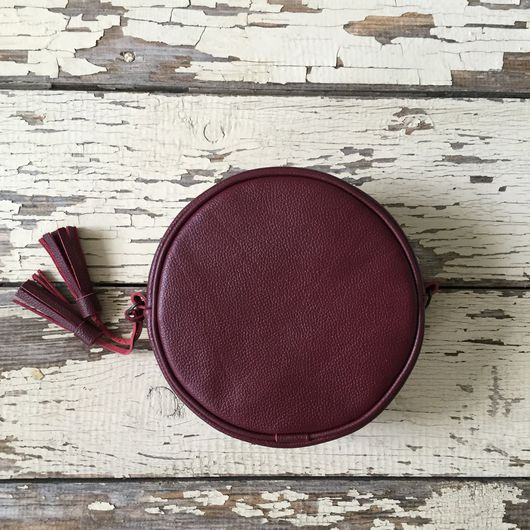 """Женские сумки ручной работы. Ярмарка Мастеров - ручная работа. Купить Круглая сумка """"марсала"""". Handmade. Сумка, винный цвет"""