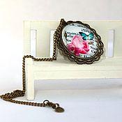 """Украшения ручной работы. Ярмарка Мастеров - ручная работа Кулон """"Розовый сад"""". Handmade."""