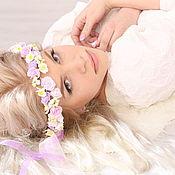 """Свадебный салон ручной работы. Ярмарка Мастеров - ручная работа Свадебный венок """"Виолетта"""". Handmade."""