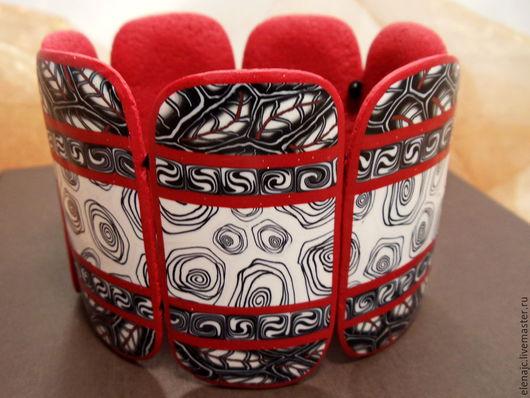 Браслеты ручной работы. Ярмарка Мастеров - ручная работа. Купить Браслет из полимерной глины на стрейч-основе - Пламя. Handmade. осень