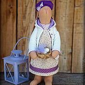 Куклы и игрушки ручной работы. Ярмарка Мастеров - ручная работа Лавандовая зая. Пасха в сиреневом цвете.Текстильная Игрушка. Handmade.