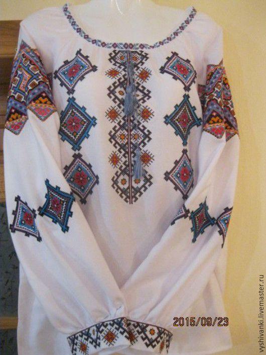 Этническая одежда ручной работы. Ярмарка Мастеров - ручная работа. Купить Женская вышиванка изобилие вышитая сорочка. Handmade. Белый