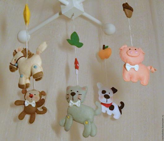 Развивающие игрушки ручной работы. Ярмарка Мастеров - ручная работа. Купить Мобиль на детскую кроватку. Handmade. Мобиль на кроватку