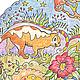 Животные ручной работы. Мандала с кошками. Графика.. Olesya Ozery (ozery-pictures). Интернет-магазин Ярмарка Мастеров. Мандала, цветы