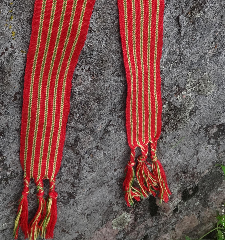 Belt. Russian sash woven in Berd. Russian sash. Russian belt, Belts and ribbons, Sestroretsk,  Фото №1