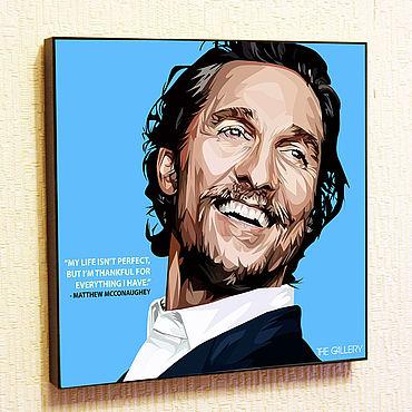Souvenirs and gifts handmade. Livemaster - original item Picture Poster Matthew McConaughey Pop Art. Handmade.