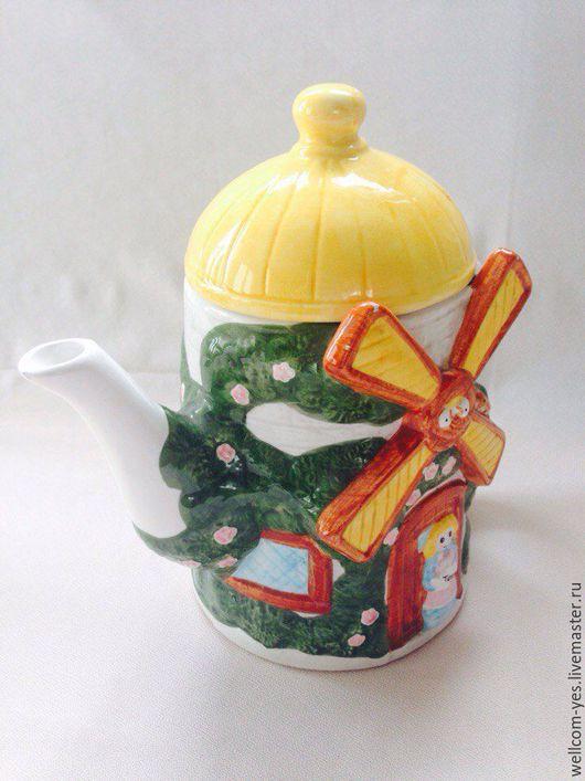 Винтажная посуда. Ярмарка Мастеров - ручная работа. Купить Чайник керамический. Handmade. Комбинированный, керамика