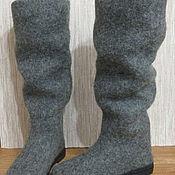 Обувь ручной работы. Ярмарка Мастеров - ручная работа Войлочные сапоги Gray melange. Handmade.