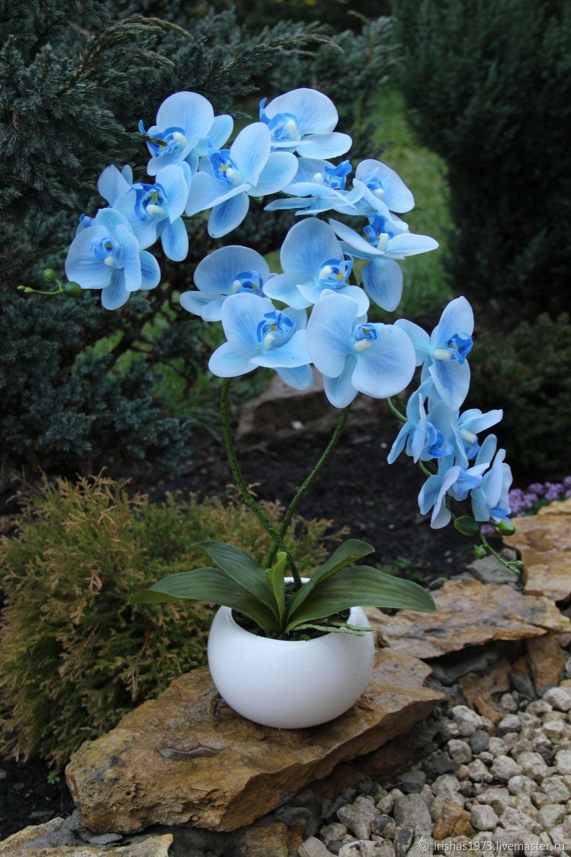 Композиция имитация орхидеи фаленопсис, Композиции, Мичуринск, Фото №1