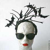 """Свадебный салон ручной работы. Ярмарка Мастеров - ручная работа Ободок """"Halloween"""". Handmade."""