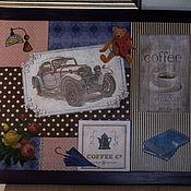 """Подарки к праздникам ручной работы. Ярмарка Мастеров - ручная работа Столик на подушке """"Кофе для автоледи"""". Handmade."""