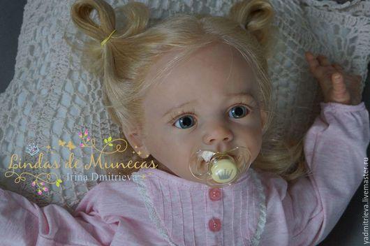 Куклы-младенцы и reborn ручной работы. Ярмарка Мастеров - ручная работа. Купить Мелиса кукла реборн. Handmade. Бледно-розовый