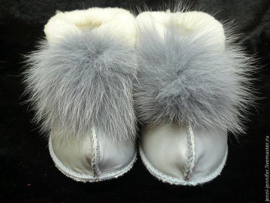 Обувь ручной работы. Ярмарка Мастеров - ручная работа. Купить Домашние чуни на заказ. Handmade. Голубой, обувь, обувь для дома