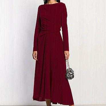 Одежда ручной работы. Ярмарка Мастеров - ручная работа Женское платье длинное 802В. Handmade.