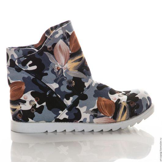 Обувь ручной работы. Ярмарка Мастеров - ручная работа. Купить Летние ботинки 8- 296 (СБ). Handmade. женская обувь