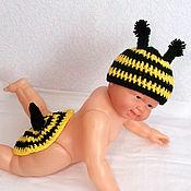 """Работы для детей, ручной работы. Ярмарка Мастеров - ручная работа Комплект для фотосессий """"Пчелка"""" (фотосессия новорожденных реквизит). Handmade."""