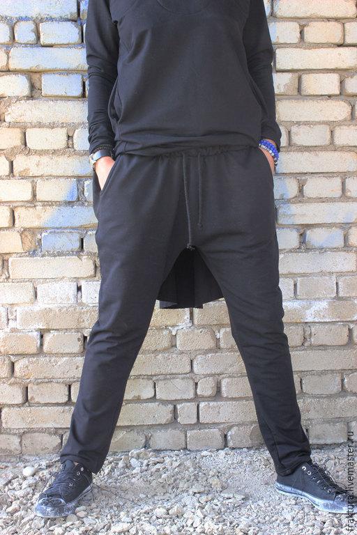 Брюки, шорты ручной работы. Ярмарка Мастеров - ручная работа. Купить Спортивные брюки  - черные P0003. Handmade. Черный