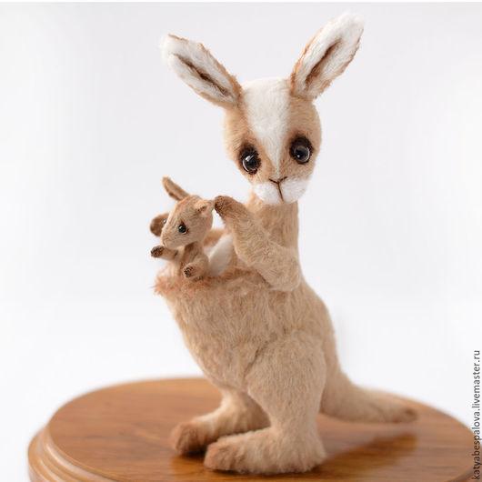 Мишки Тедди ручной работы. Ярмарка Мастеров - ручная работа. Купить Кенгуру с кенгуренком. Handmade. Бежевый, игрушка, подарок, синтепух