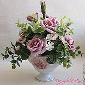"""Цветы и флористика ручной работы. Ярмарка Мастеров - ручная работа Букет """"Розовый романс"""". Handmade."""