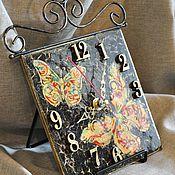 """Для дома и интерьера ручной работы. Ярмарка Мастеров - ручная работа Часы """"Бабочки"""". Handmade."""