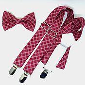 Аксессуары handmade. Livemaster - original item Set bow tie and suspenders