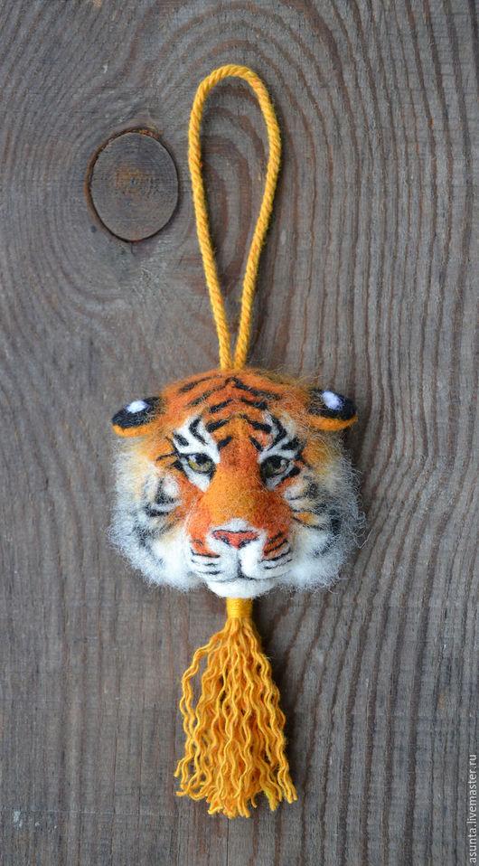 """Подвески ручной работы. Ярмарка Мастеров - ручная работа. Купить Подвеска """"Тигр"""". Handmade. Рыжий, сила, войлок"""