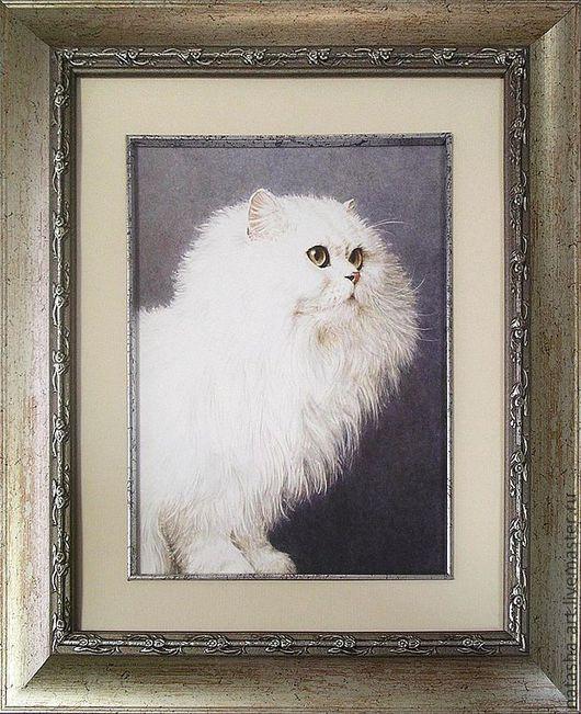 Животные ручной работы. Ярмарка Мастеров - ручная работа. Купить Портреты кошек по фото. Handmade. Белый, портрет, акварель