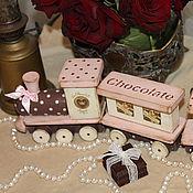 """Для дома и интерьера ручной работы. Ярмарка Мастеров - ручная работа Игрушечный поезд """"Chocolate"""". Handmade."""