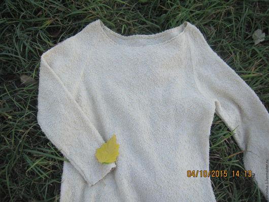"""Кофты и свитера ручной работы. Ярмарка Мастеров - ручная работа. Купить Свитер-оверсайз""""Букле"""". Handmade. Бежевый, экрю, вязаный свитер"""