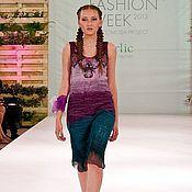 Платья ручной работы. Ярмарка Мастеров - ручная работа фиолетовое море. Handmade.