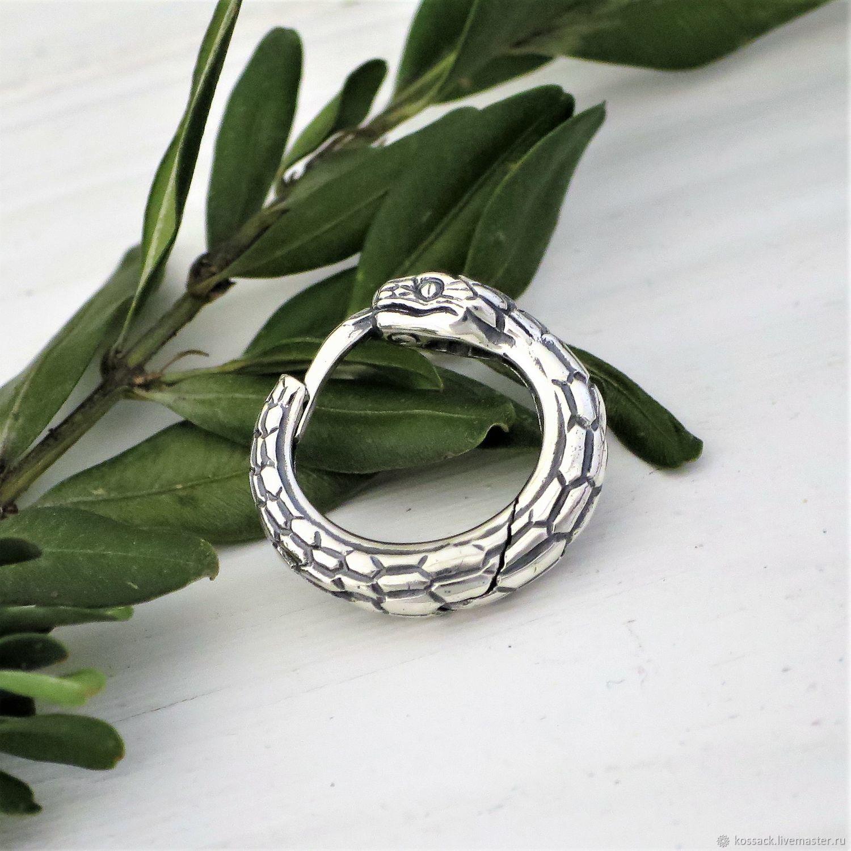 Ouroboros hoop earring for men, Earrings, Zaporozhye,  Фото №1