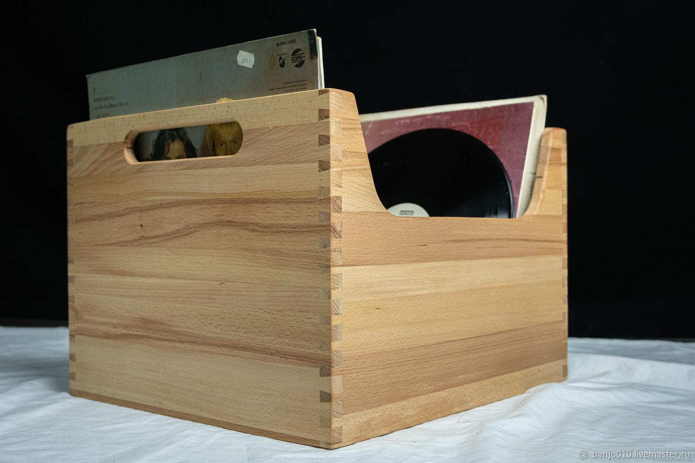 33 оборота ящик для виниловых пластинок, Ящики, Люберцы,  Фото №1
