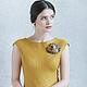 Платья ручной работы. Валяное платье «Cute». Irina Demchenko. Ярмарка Мастеров. Авторское платье, шафран, шерсть