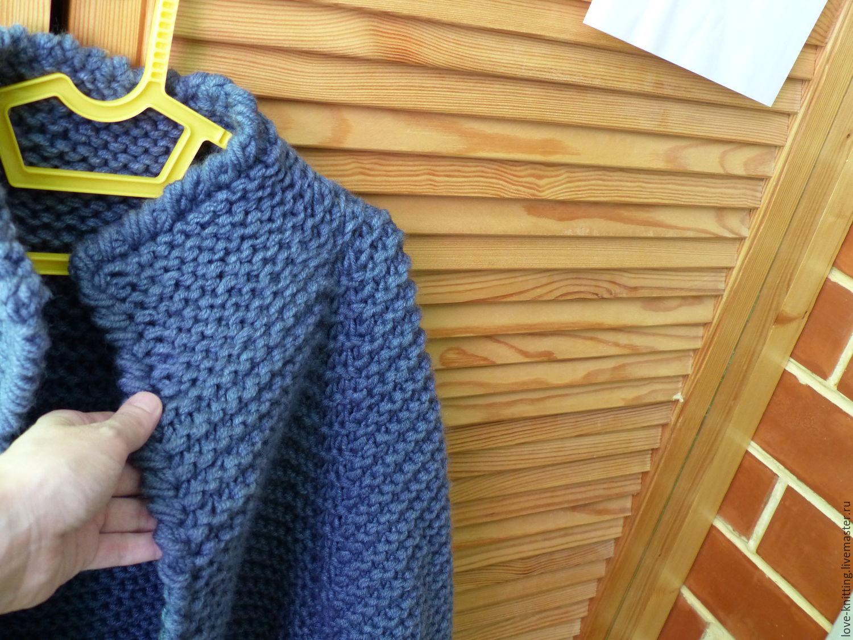 Кардиган спицами платочной вязкой схемы и описание