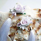 Украшения ручной работы. Ярмарка Мастеров - ручная работа Серьги - кисточки с мелкими розочками. Handmade.